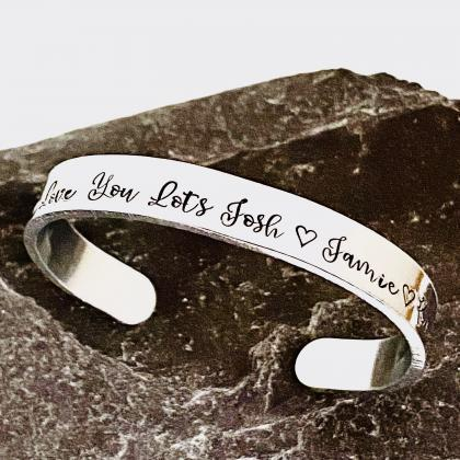 Personalised Cuff Bangle, Customise..