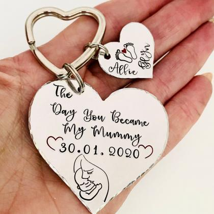 The Day you Became My Mummy Keyring..