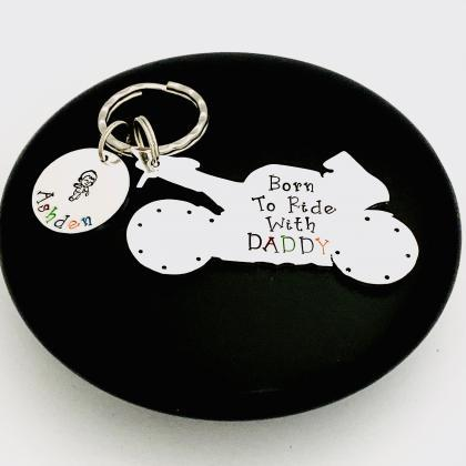 Born To Ride With Daddy Keyring, Pe..