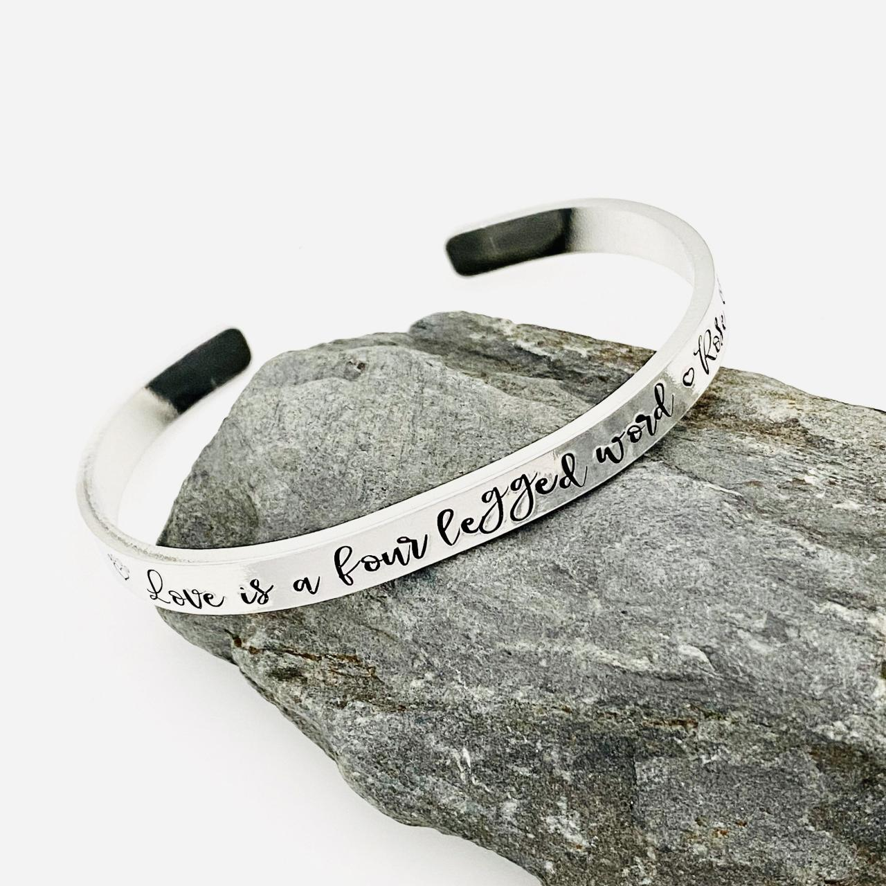 Personalised Pet Memorial Jewellery, Pet Sympathy Gift, Pet Remembrance Gift, Pet Memorial Gift, Loss Of Pet Gift, Aluminium Custom Bangle