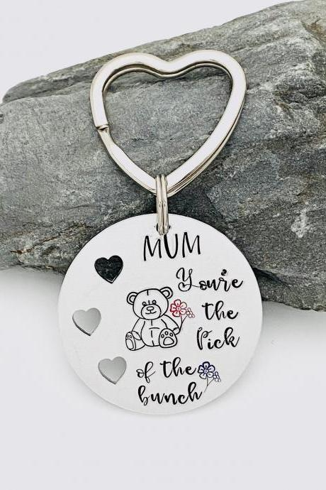 Personalised Keyring For Mum Mummy, Mum Keychain, Gift For Mum, Mothers Day Gift, Nanny Keyring, Gift For Nanna, Birthday Gift For Mum