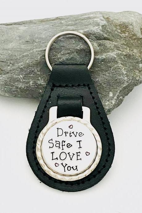 Drive Safe I Love You Keyring, Boyfriend keyring, Gift For Husband, Valentines Gift, Gift For Him, Personalized keyring, Anniversary Gift