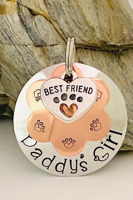 Dog Tag For Dogs, Dog Name Tag, Dog ID Tag, Dog Collar Tag, Pet ID Tag, Puppy Dog Tag, Strong Dog Tag, Unique Pet Tags, Round Dog Tag..