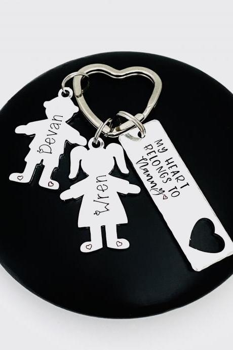 Belongs To Gift For Nanny, Nanny Gift ,Gift For Nana Nanna, Personalised Mothers Day Gift, Grandma Gift, Gift Off The kids, Auntie Keychain..