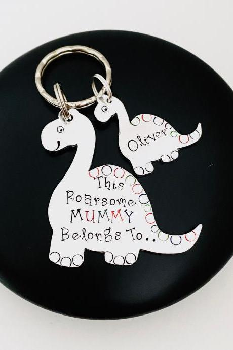 Mummy Belongs To Keying, Gift For Mummy, Keychain for Mum, Personalised Mum Keychain, Family Tree Gift, Personalized Mama Mom keychain..